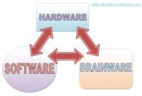 penjelasan hardware,software,brainware